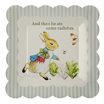 Peter Rabbit Paper Party Plates - pack of 12, small